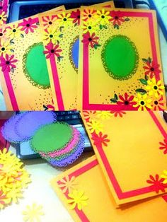Art ,craft ideas and bulletin boards for elementary schools: file File Decoration Ideas, Page Decoration, Craft Ideas, Diy And Crafts, Crafts For Kids, Arts And Crafts, Paper Crafts, Cover Page For Project, Art Folder