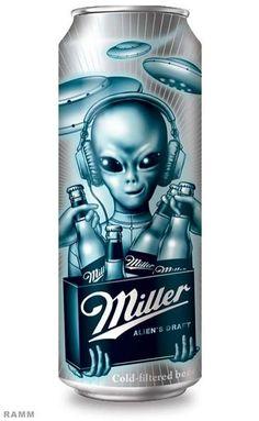 Alien #beer #packaging fun PD