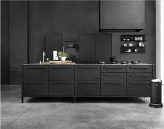 Moderne, schwarze Küche * Küchenideen * Inspirationen für Kücheneinrichtung