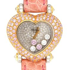 Chopard Haute Joaillerie Heart 18K 5 Happy Pink Diamonds 47316 Watch