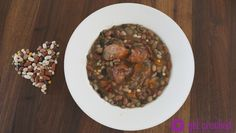 Slow Cooker Cajun 15 Bean Stew - Thick and delicious! pair w/ cornbread! #Recipe GetCrocked.com