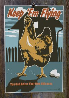 """Joe Wirtheim's art for Victory Garden of Tomorrow includes posters that urge, """"Grow food on an organic farm"""" and """"Mobilize for your farmer's market."""""""