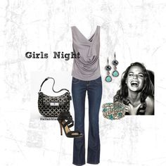 Girls Night Out, created by italianblonde on Polyvore - nice outfit
