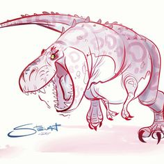 "A quick Trex sketch.  I guess I'm getting excited for ""Jurassic World""…"