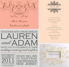 feminine invitations