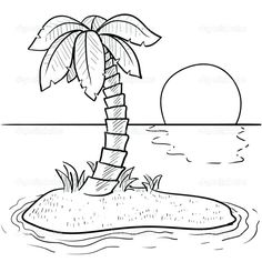 Tropical Beach Summer Summer Coloring Pages For Girls Camping Coloring Pages, Coloring Pages Nature, Beach Coloring Pages, Leaf Coloring Page, Spring Coloring Pages, Online Coloring Pages, Coloring Pages For Girls, Animal Coloring Pages, Coloring Pages To Print