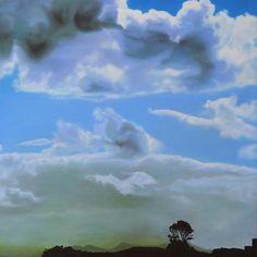 Catherine Ocholla: The Outpost II: fine art | StateoftheART Deep Shadow Box, Shadow Box Frames, Dusk, Landscape Paintings, Original Artwork, Clouds, Fine Art, Gallery, Artist
