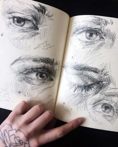 elly smallwood: Photo - - elly smallwood: Photo PORTRAIT Travel journal pages and scrapbook inspiration – ideas for travel journaling, art journaling, and scrapbooking. Drawing Sketches, Pencil Drawings, Art Drawings, Drawing Eyes, Sketching, Eye Sketch, Drawing Journal, Sketch Journal, Pencil Art