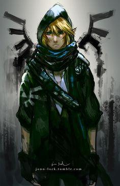 Link,The Legend of Zelda: Skyward Sword artwork by Jon Lock.