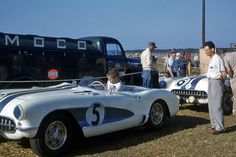 Corvette C1 at Sebring 1956. Sold for only, and I mean only, 1.5 million.
