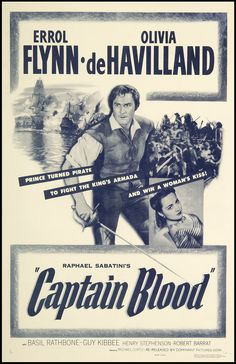 italian movie posters 1950s | Captain Blood SKU 579