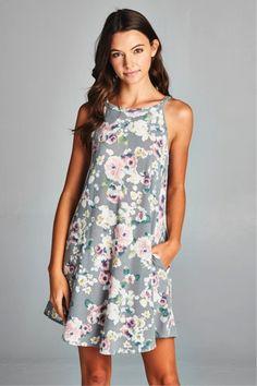 7faba5122e5 Milo   Lily Boutique · M L Dresses · SLEEVELESS HIGH-NECK FLORAL-PRINT  DRESS Easter Dress