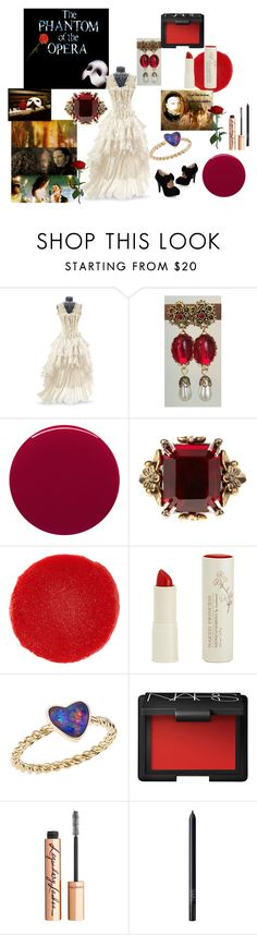 """Phantom of the Opera"" by alisafranklin on Polyvore featuring Smith & Cult, Alexander McQueen, Christian Louboutin, Naked Princess, Katherine Jetter, NARS Cosmetics and Charlotte Tilbury"