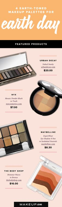 Earth Day is here, and what better way to salute mother nature then with earth-tone eye shadow, blush and bronzer palettes! Here are the top palettes we love as a tribute to Earth Day!