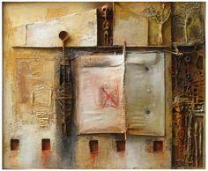Hier, aujourd'hui, demain,  Acrylique et technique mixte/ toile, 130x162cm, 2004.