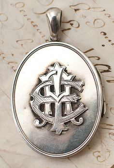 Victorian English Silver Locket