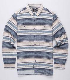 p.a.m striped flannel shirt, cool detail on edge. #asymmetric Casual Shirts For Men, Flannel Shirt, Stripes, Polo, Mini, Mens Tops, Fashion, Moda, Fasion