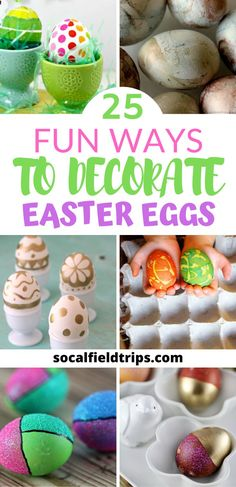 Looking for some different ways to decorate Easter eggs? Check out this list of 25 Fun Easter Egg Decorating Ideas! There are all sorts of ideas like using natural dyes, tulle, yarn and more. Easter Craft Activities, Easter Crafts For Kids, Spring Activities, Holiday Crafts, Spring Crafts, Holiday Fun, Holiday Ideas, Egg Decorating, Easter Party
