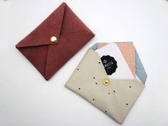 DIY Anleitung: Lederetui für Visitenkarten // diy tutorial: How to make a leather etui for business cards via DaWanda.com