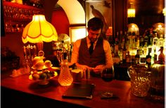 This speakeasy-style bar, just by The Triangle, is the sister venue of Milk Thistle and has a similarly eclectic, low-lit gentleman's club vibe going Bristol Bar, Clifton Bristol, Vintage Lampshades, Speakeasy Party, Gentlemans Club, Bar Interior, Beer Bar, Cool Bars, Hyde