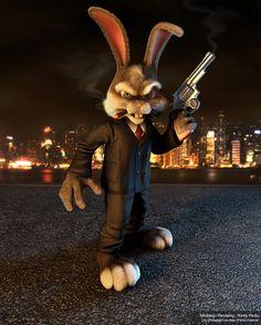 Rabbit Gangster - the evil bunny