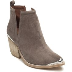 JEFFREY CAMPBELL Cromwell Taupe Suede Bootie (11.045 RUB) ❤ liked on Polyvore featuring shoes, boots, ankle booties, taupe suede, jeffrey campbell boots, jeffrey campbell booties, high heel boots, suede boots and taupe booties