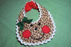 Gingerbread girl bib