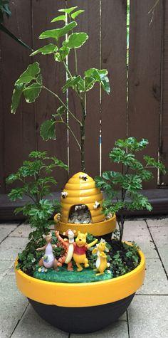 100 Acre Woods in Miniature Pot Garden