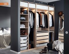 Schr nke und Garderoben Ikea das Beste aus dem Katalog 2016 Armoire Pax Ikea vue p 4 de la brochure Armoires Ikea 2016 Garderobe Pax Ikea Ansicht p 4 der Ikea Cabinets-Brosch re 2016 Ikea Closet, Closet Bedroom, Bedroom Storage, Home Bedroom, Bedroom Decor, Closet Storage, Bedroom Sets, Pax Closet, Canopy Bedroom