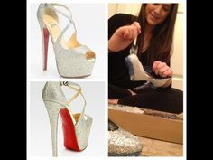 DIY Project: How to Create Louboutin Glittered Inspired Heels ! What how to change Fugly old heel to Glamorous Pumps Glitter sparkle shin shinny Red bottoms fabulous fun easy inexpensive