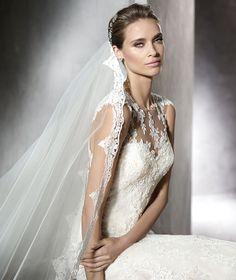 Pronovias > PLADIE - Mermaid wedding dress in tulle