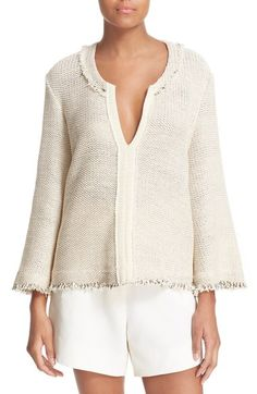 IRO 'Koltone' Open Knit Cotton Blend Sweater available at #Nordstrom