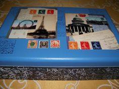 caixa com temática Paris
