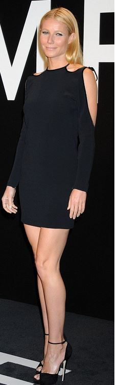Gwyneth Paltrow's cut out black dress fashion id