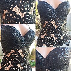 All items are made to your specific sizes/measurements. After purchase we will email you for your measurements if needed. Once shipped shipping takes day Edm Outfits, Grunge Outfits, Corset, Diy Bra, Rave Wear, Diy Clothing, Ladies Dress Design, Bra Tops, Black Roses