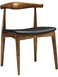 LexMod Hans Wegner Style Elbow Dining Side Chair with Faux Leather Seat ❤ Lexington Modern
