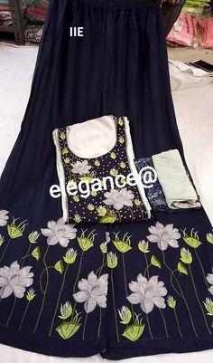 Buy Rreflection plazo suit online from Rreflection shop Churidar Suits, Salwar Kameez, Kurti, Plazzo Suits, Trouser Suits, Fashion Dresses, Trendy Dresses, Women's Fashion, Ladies Pants