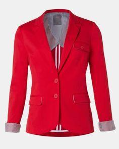 Long sleeve red blazer