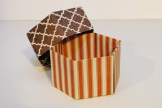 Set of 4 Origami Autumn Hexagon Boxes with Lids by sell412designs, $6.00