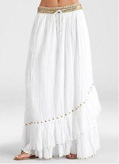 $54.99 grecian white skirt