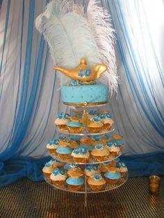 Genie Cupcake  Tower