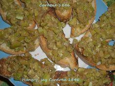 bruschette alici e zucchine