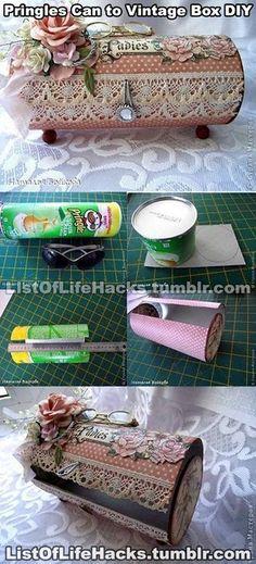 La de cosas que se pueden hacer con la lata de pringles