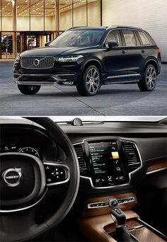 2015 Volvo In America, the has been one of the most popular Volvos. For the super-safe Swedish SUV has been completely re-designed inside & out. The interior looks incredible, highlighted by a Tesla-like vertical info-tainment screen. Maserati, Lamborghini, Bugatti, Volvo Cars, Suv Cars, Car Car, Volvo Xc90, My Dream Car, Dream Cars