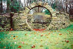 cute garden entrance idea