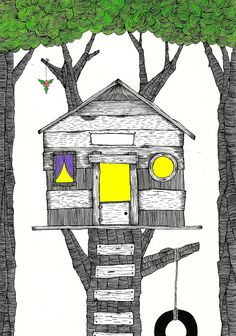"""Duane Hosein, """"Gfits for the Home,"""" 2011.  Commissioned drawing for Emily Henderson's gift guide."""
