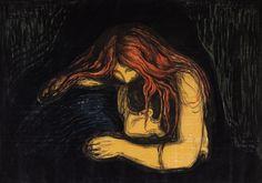 Edvard Munch | Vampir |1895/1902-1914 |Privatsammlung Courtesy Galleri K, Oslo © Reto Rodolfo Pedrini, Zürich  #EdvardMunch #Munch #Art #Symbolism