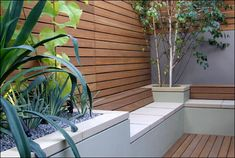 plants and reclaimed wood decking, cladding and seating garden  WilleWoodWork