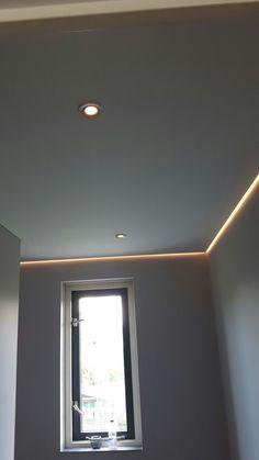 Spanplafond met ledverlichting
