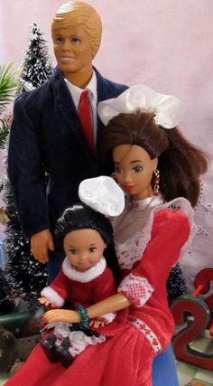 Vintage Barbie Ken And Their Toddler Girl by DressMeDoll on Etsy